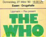 Ticket stub, 27.3.1980