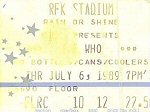 Ticket, 06-07-1989 (© Thomas Byron)