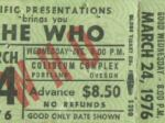 Ticket stub Portland 1976 (Photo by Scott)