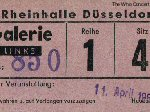 Ticket stub Dusseldorf 1967 (thanks to Burkhard Kaiser)