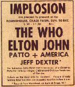 Concert Add, 20.12.1970, New Musical Express