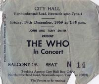 Ticket, December 19 1969 (Bill Grisdale)