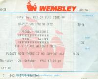 Ticket London 26.10.1989 (Burkhard Kaiser)